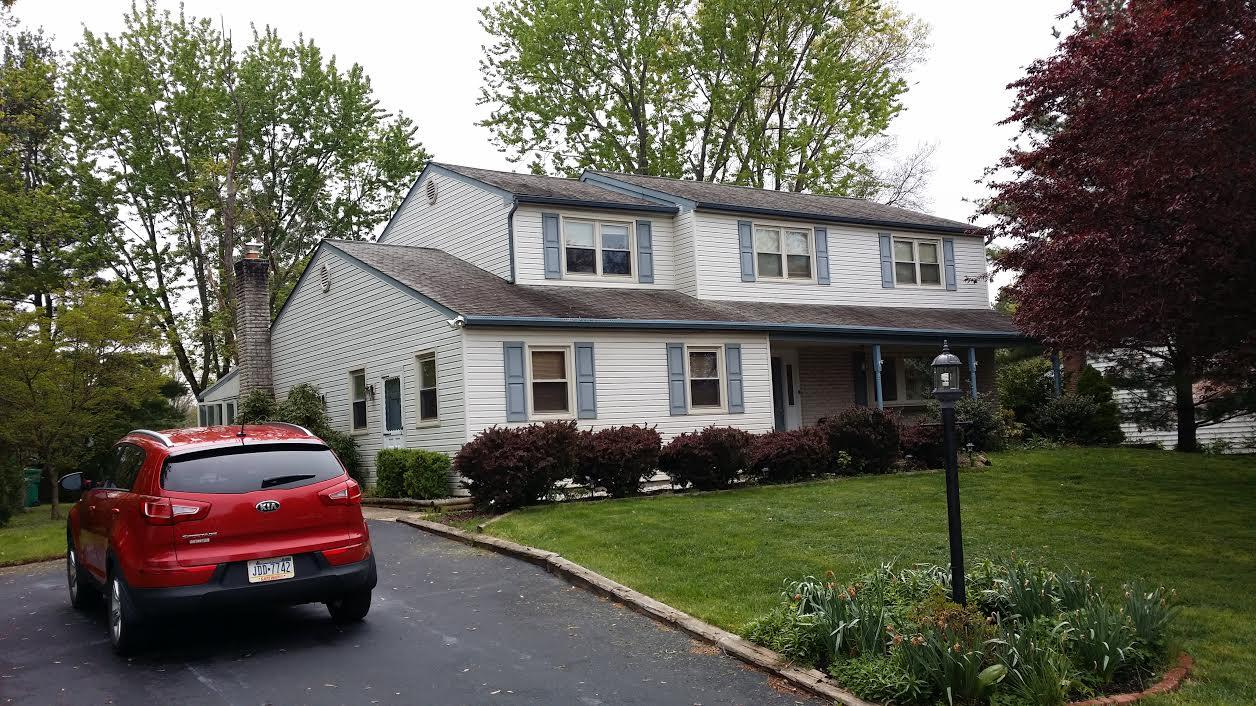 Roof Replacement in Lansdale PA - Before Photo