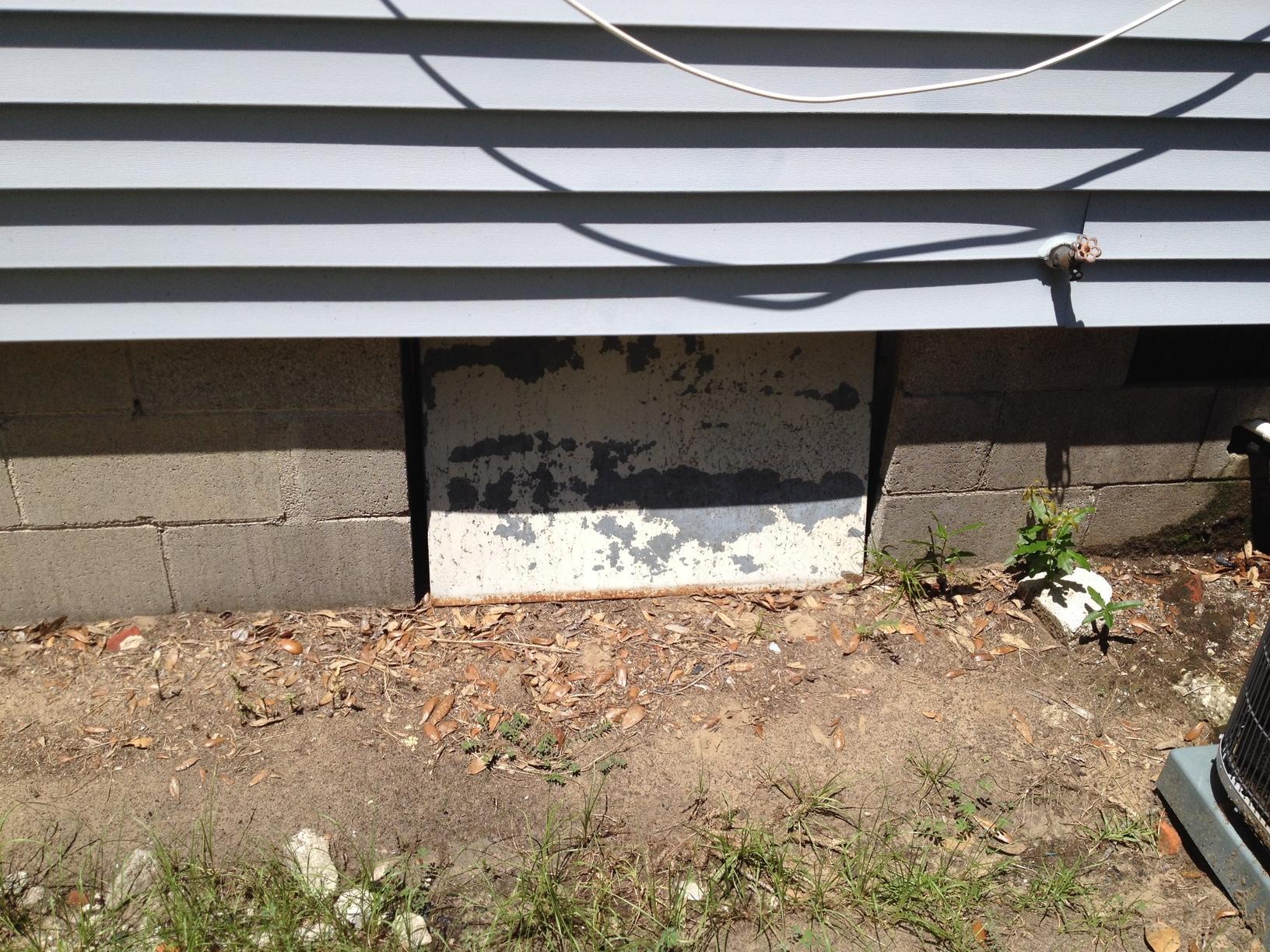 Crawl Space Door in Mt Pleasant, SC - Before Photo