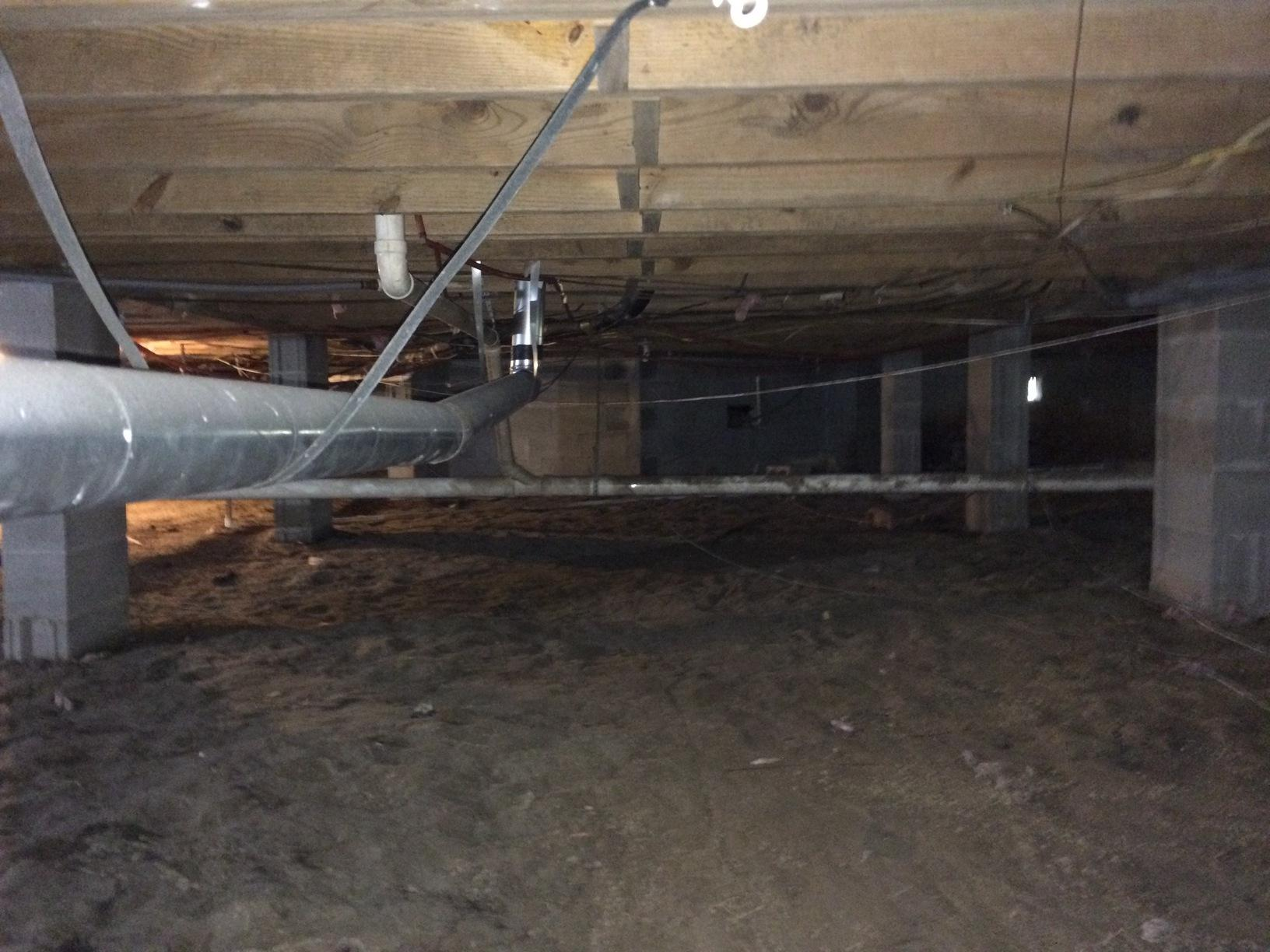 A Complete Crawlspace Transformation - Before Photo