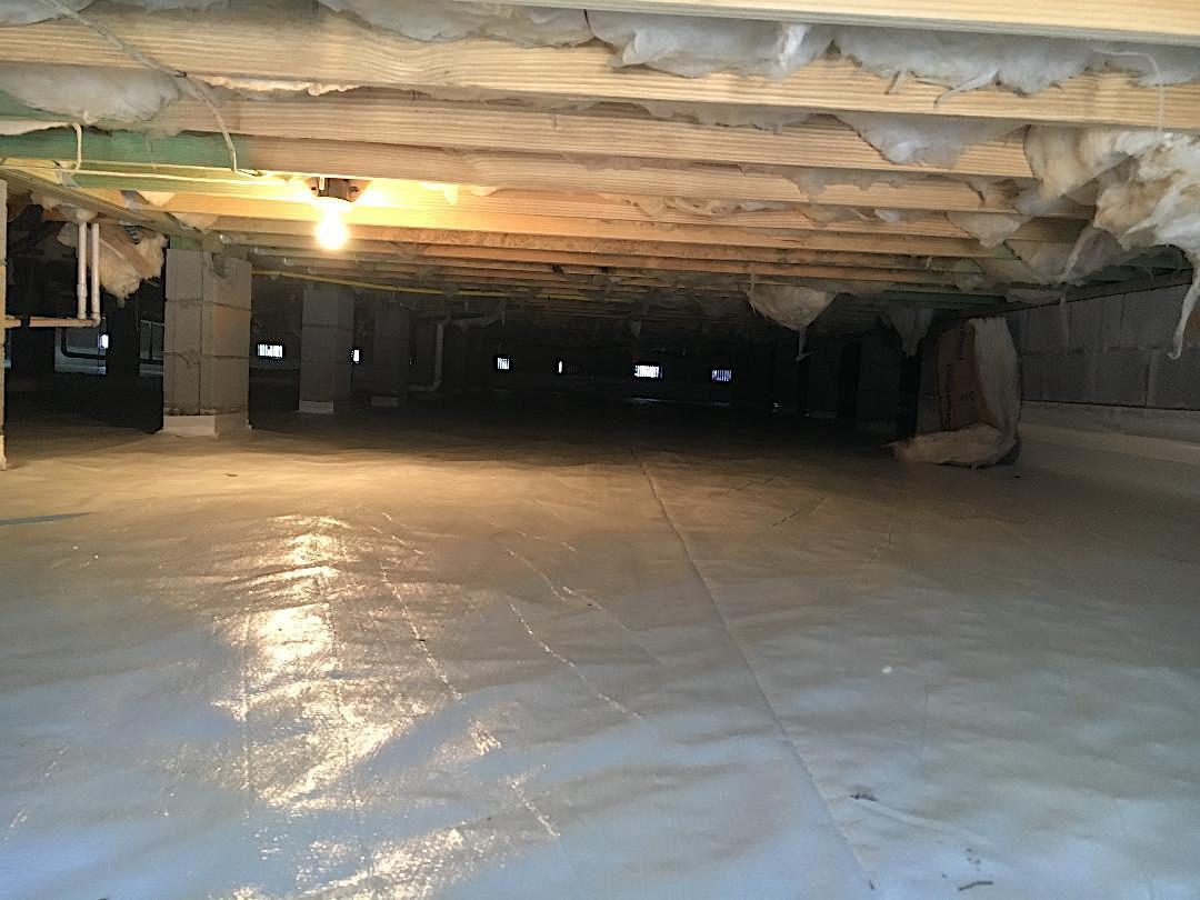 Moncks Corner Crawlspace Receives Vapor Barrier - After Photo
