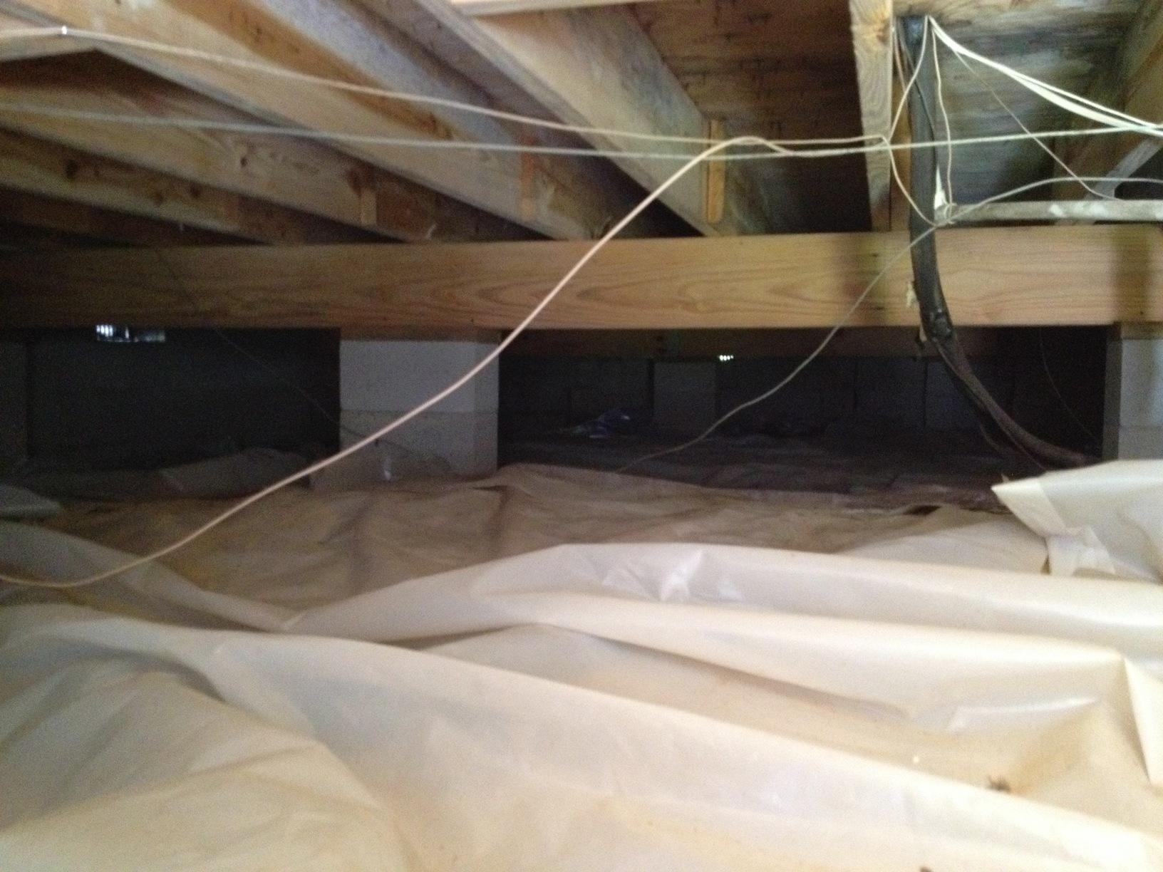Crawlspace Encapsulation in Awendaw, SC - Before Photo