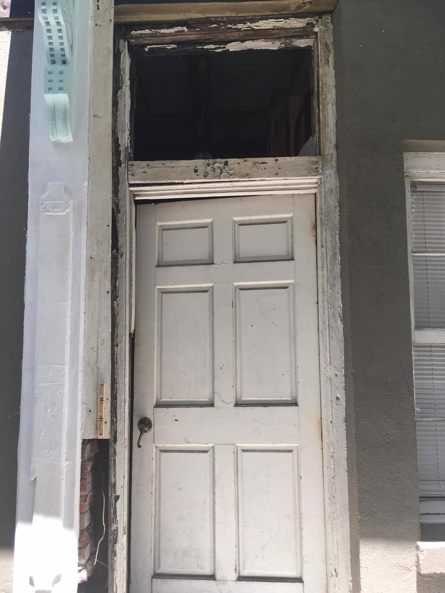 Front Entrance Renovation in Charleston, SC - Before Photo