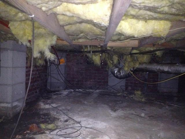 Crawlspace Cleanout and Encapsulation in Beaufort, SC - Before Photo