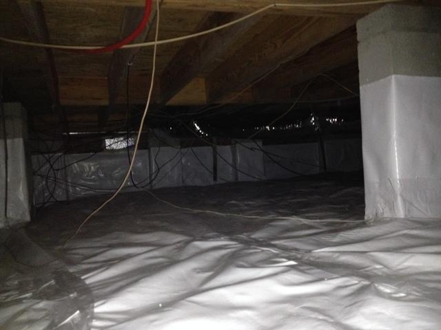 Crawlspace Cleanout and Encapsulation in Beaufort, SC - After Photo