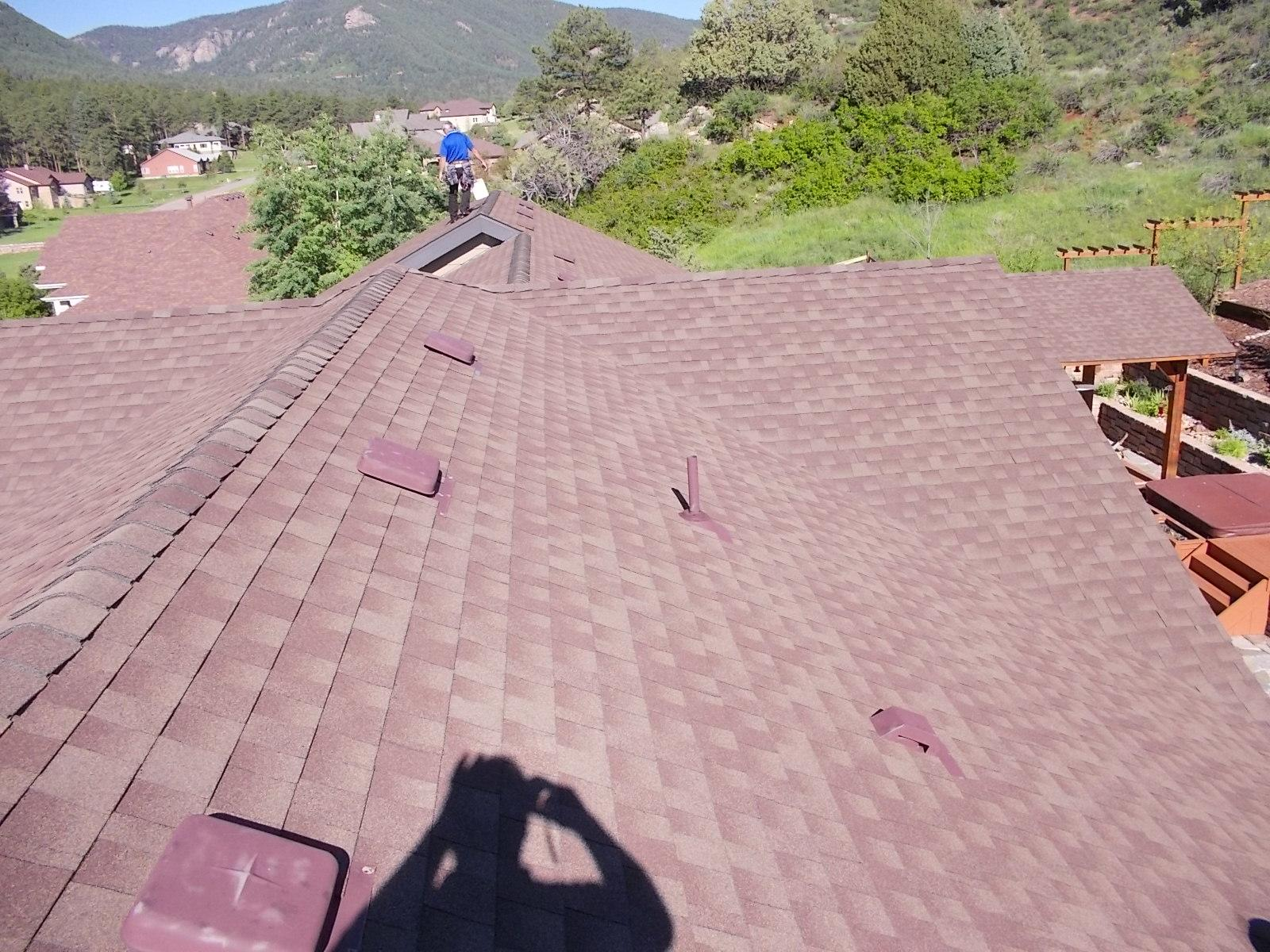 Larkspur, CO Roof Replacement - Before Photo