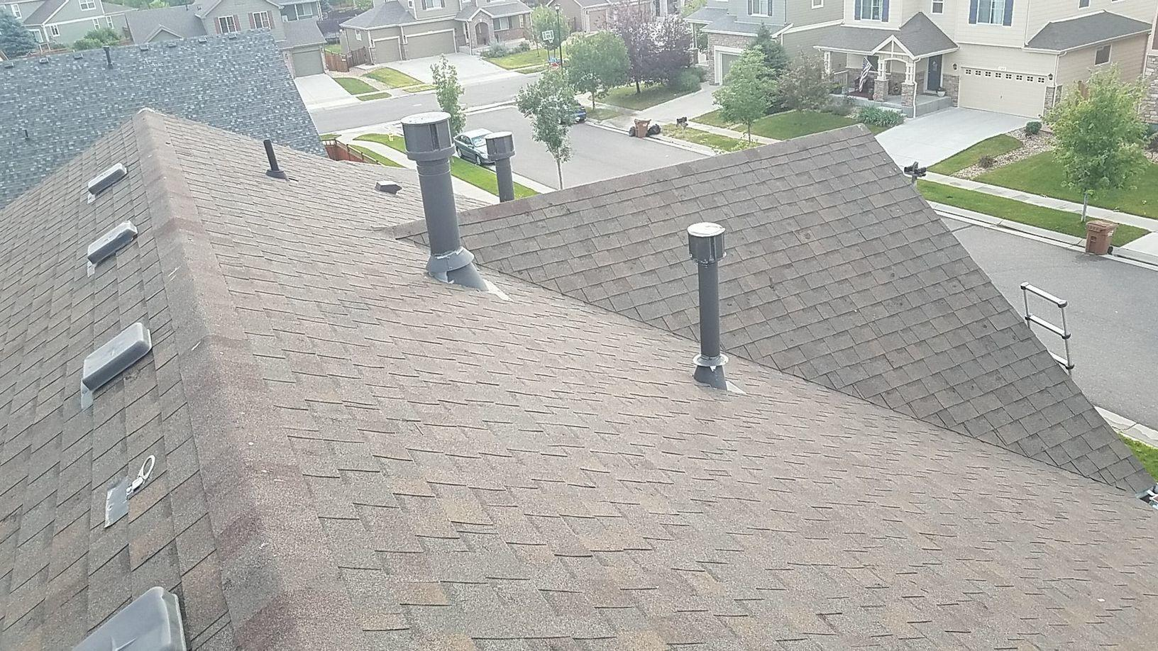 Brighton, CO Owens Corning Roof Replacement - Before Photo