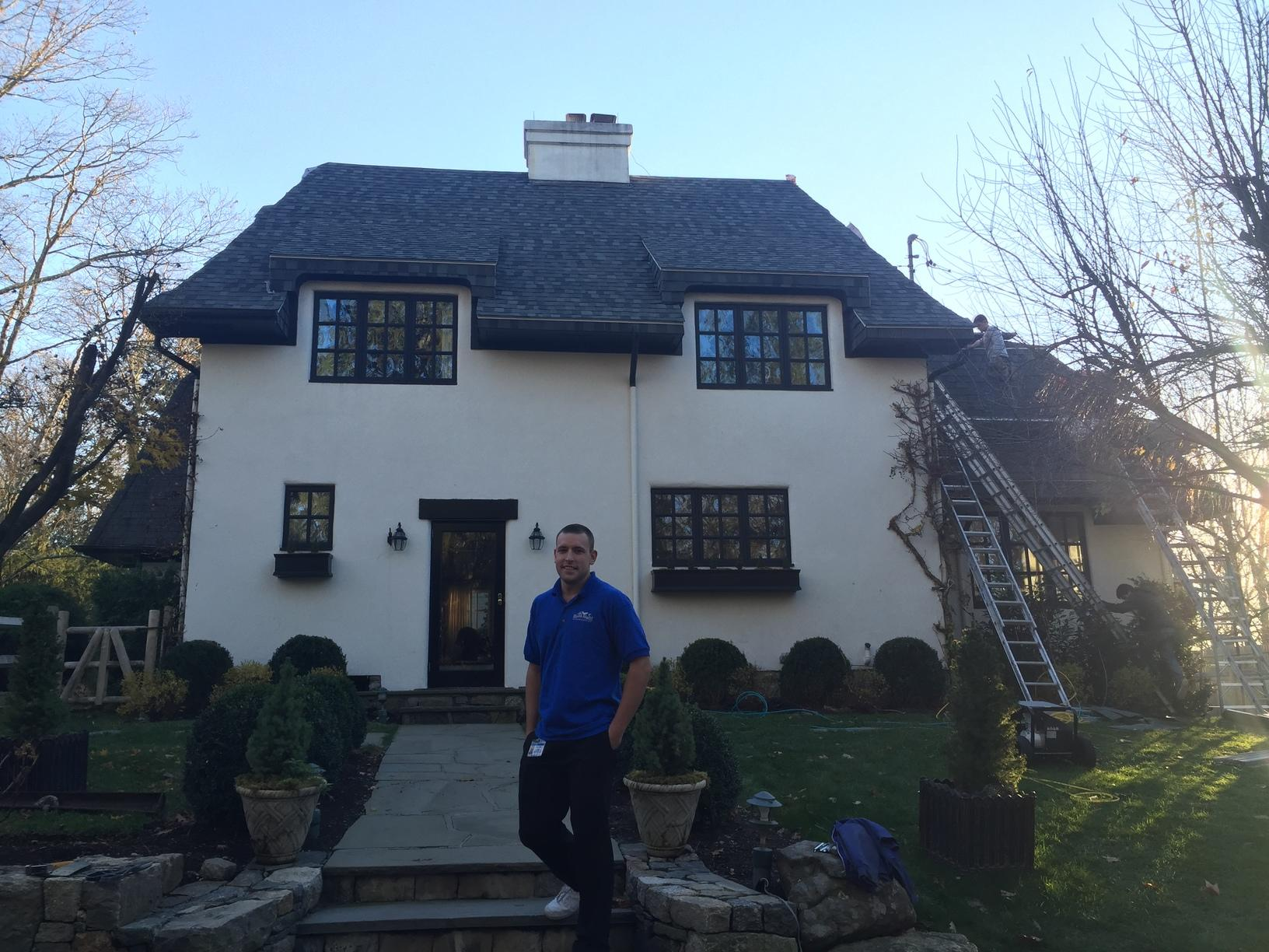 Greenwich, CT Wind Damage Roof Replacement and Restoration - After Photo