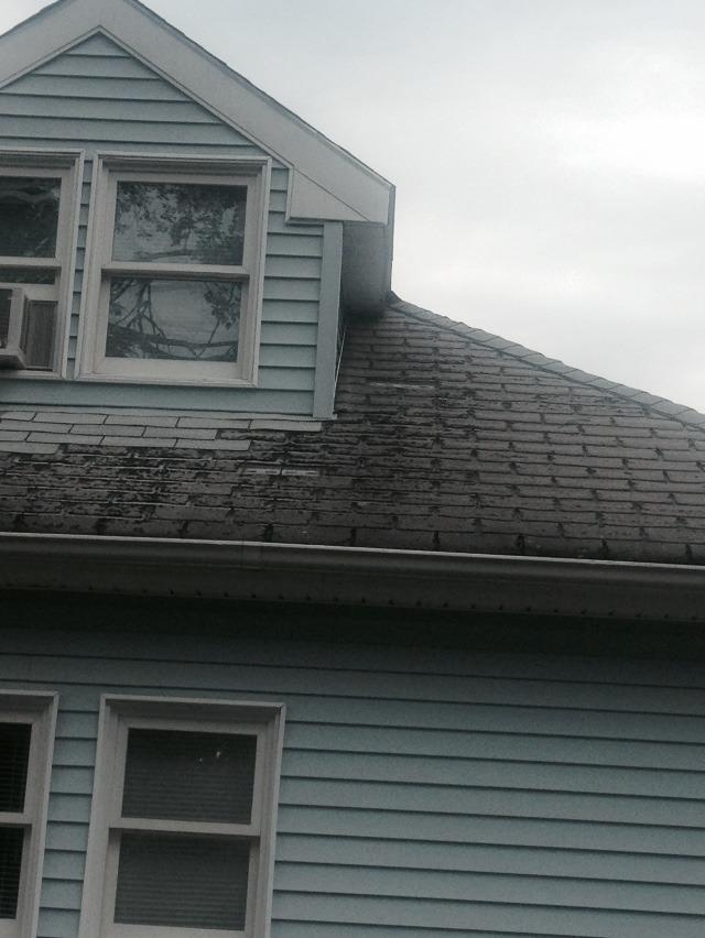 Wind Damaged Roof Replacement in Danbury, CT - Before Photo