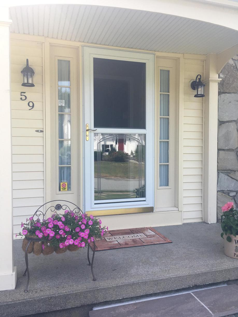 Gorgeous front door replacement in Greenwich, RI - Before Photo