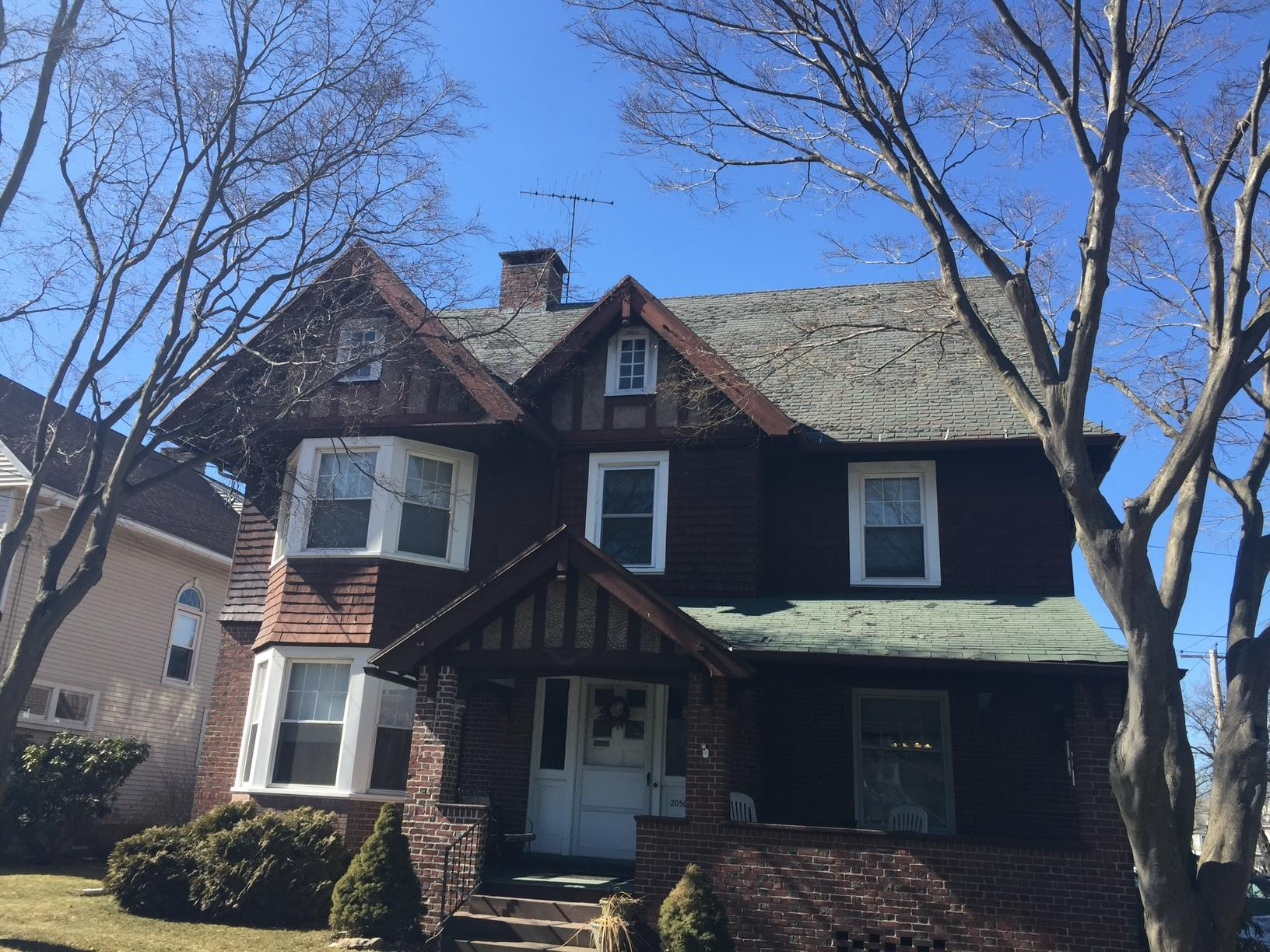 Bridgeport, CT - Wind Damage Roof Replacement (North Ave) - Before Photo
