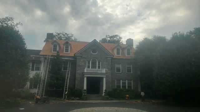 Porchuck Rd, Greenwich CT Missing Shingles Roof Damage Due to Wind