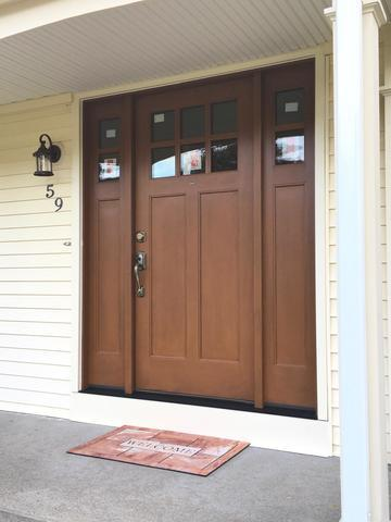 Gorgeous front door replacement in Greenwich, RI