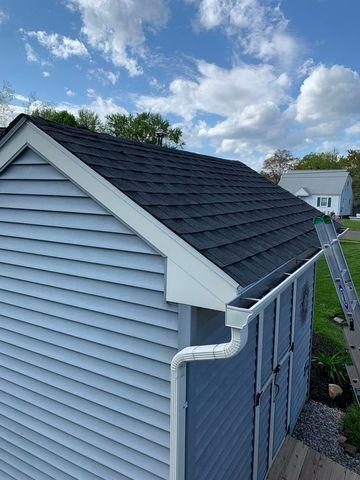 Storm Damaged Shed Roof Repair in Southington, CT - After Photo