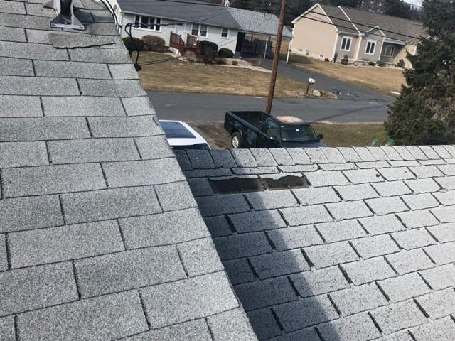Wind Damaged Roof in Ludlow, MA (Clark St)