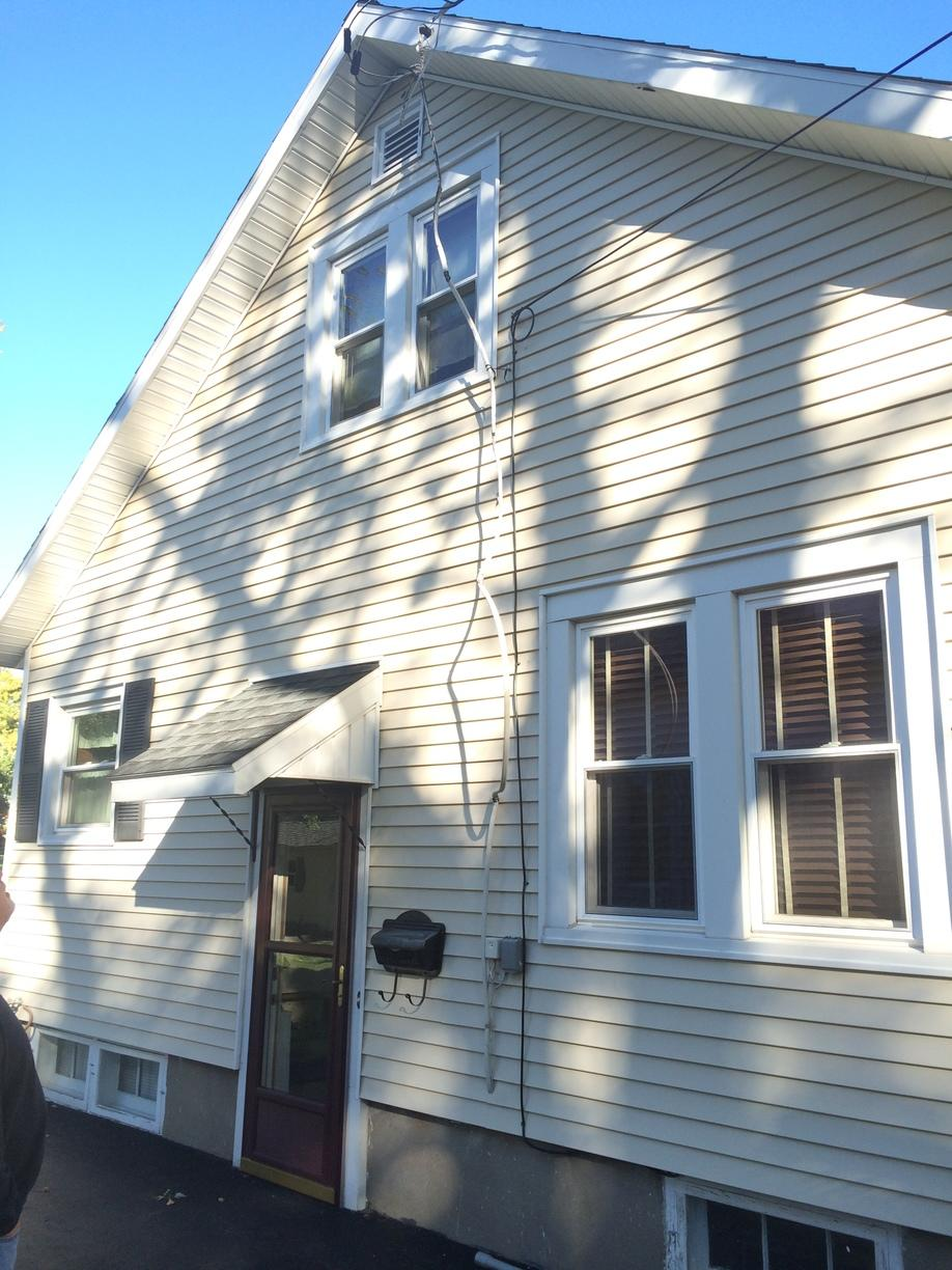 New service cable for Newark, NY homeowner - Before Photo