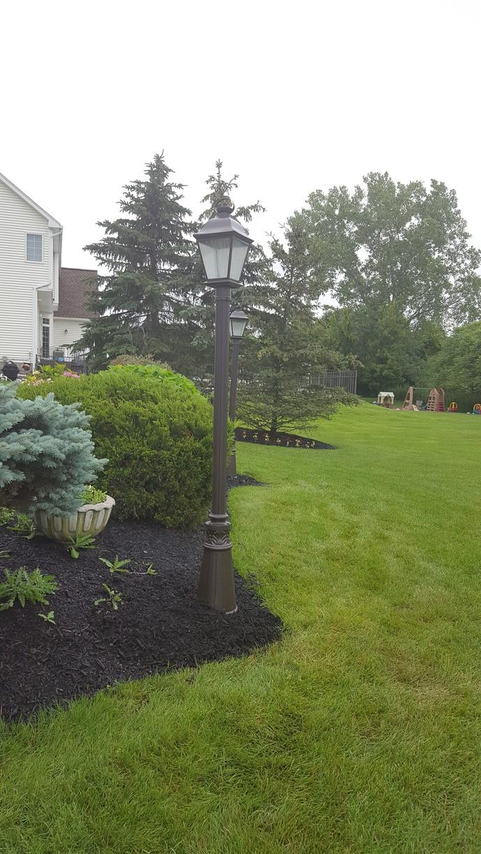 Wind Damage Repair for Exterior Post Lights in Penfield, NY - After Photo