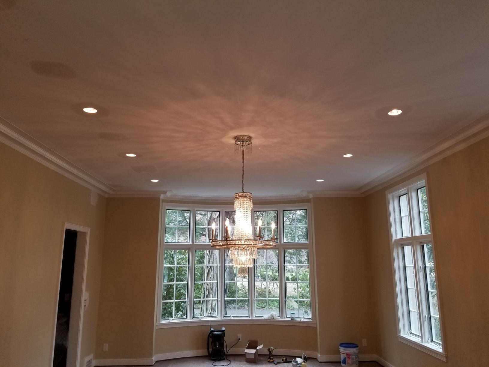 Dining room lighting upgrade for a Rochester, NY homeowner - After Photo