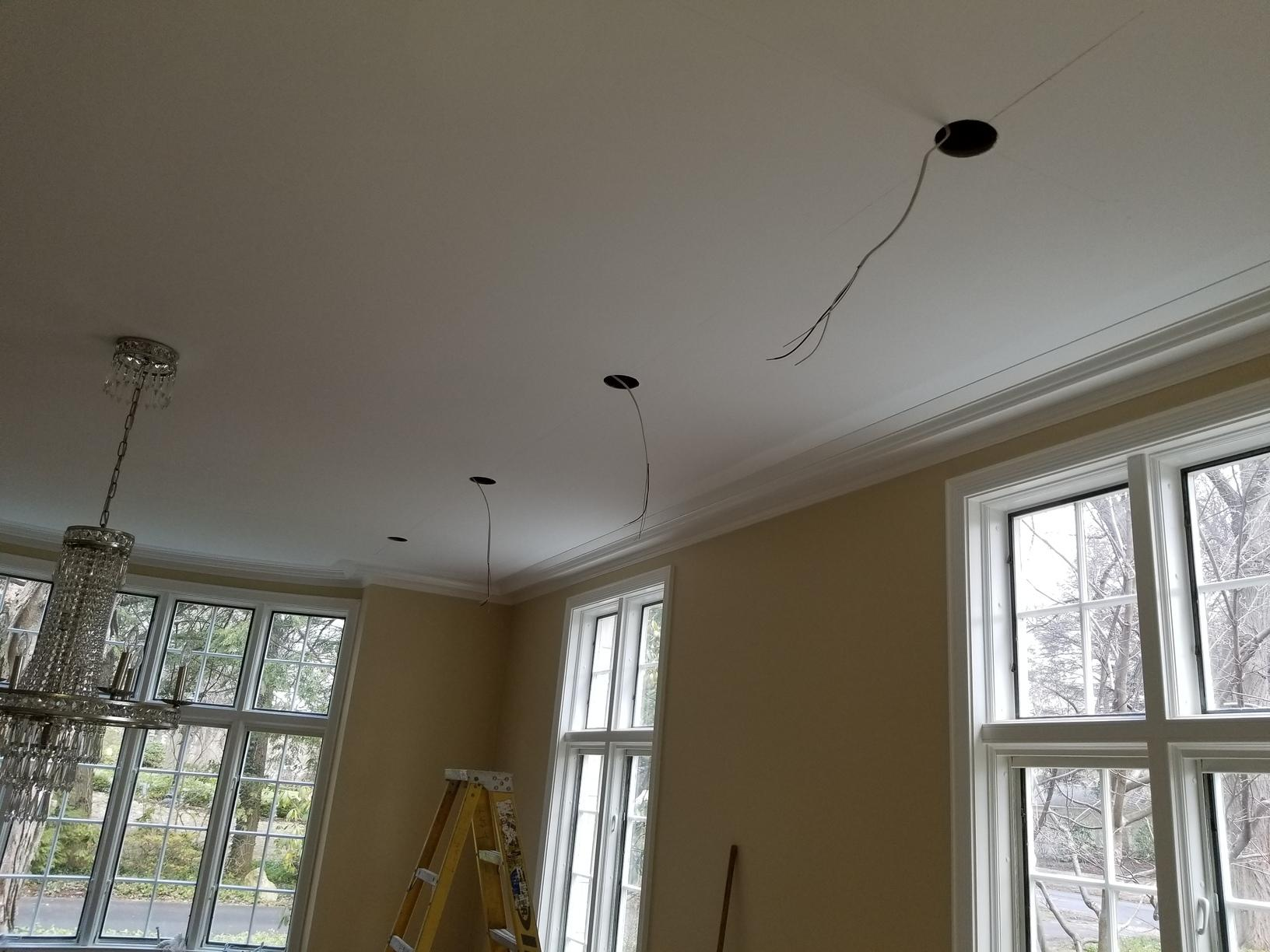 Dining room lighting upgrade for a Rochester, NY homeowner - Before Photo