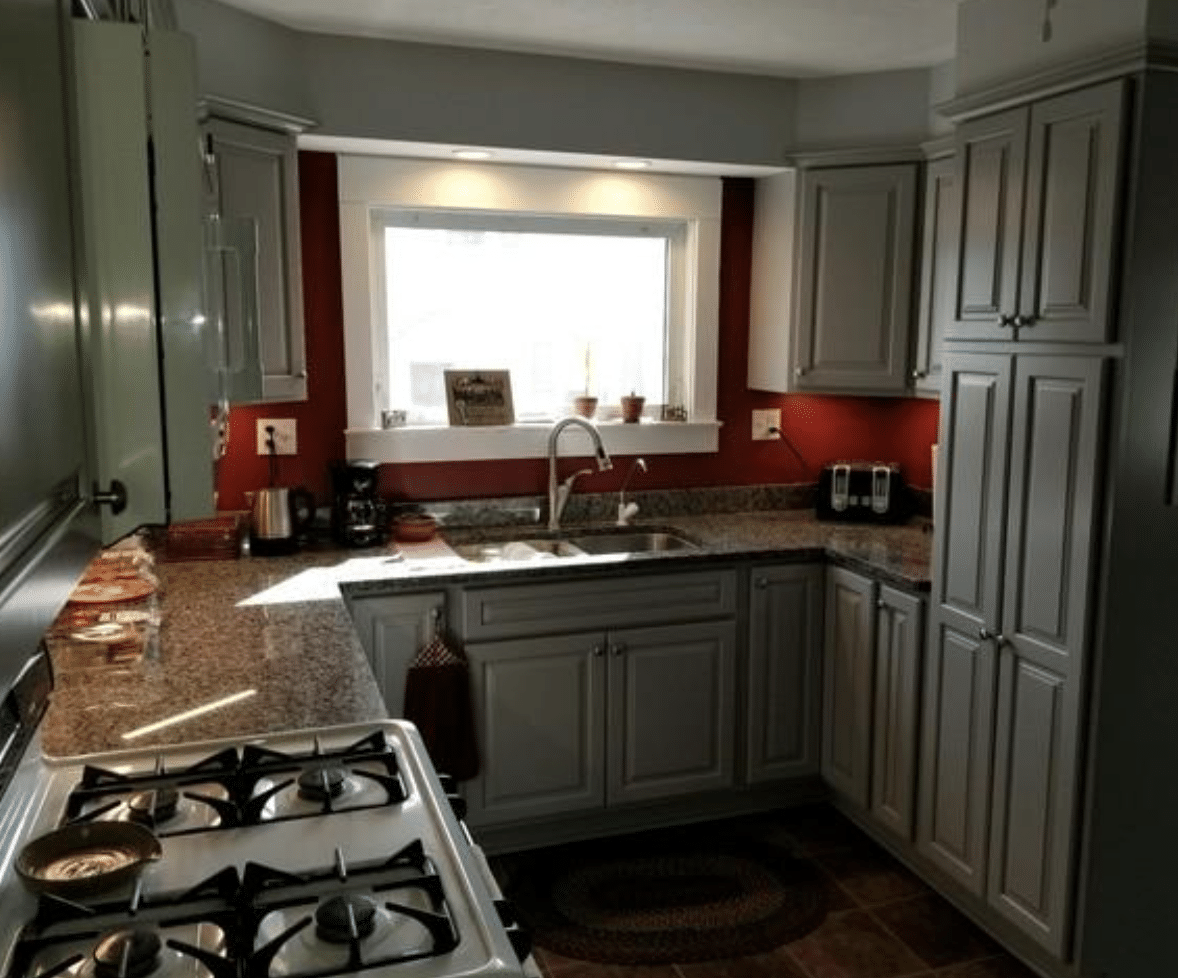 Remodeled Kitchen Includes Lighting Upgrade, Newark - After Photo