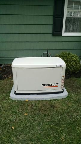 Replacement of generator with new Generac for a Newark, NY homeowner - After Photo