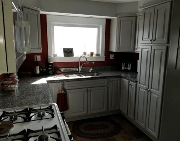 Remodeled Kitchen Includes Lighting Upgrade, Newark - Before Photo