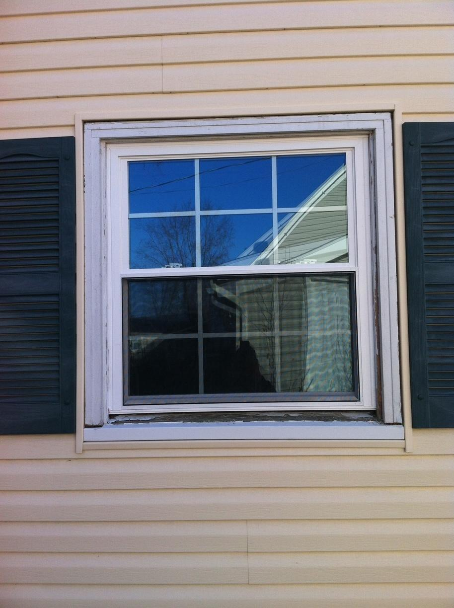 Hatboro Double Hung Window Replacement - Before Photo