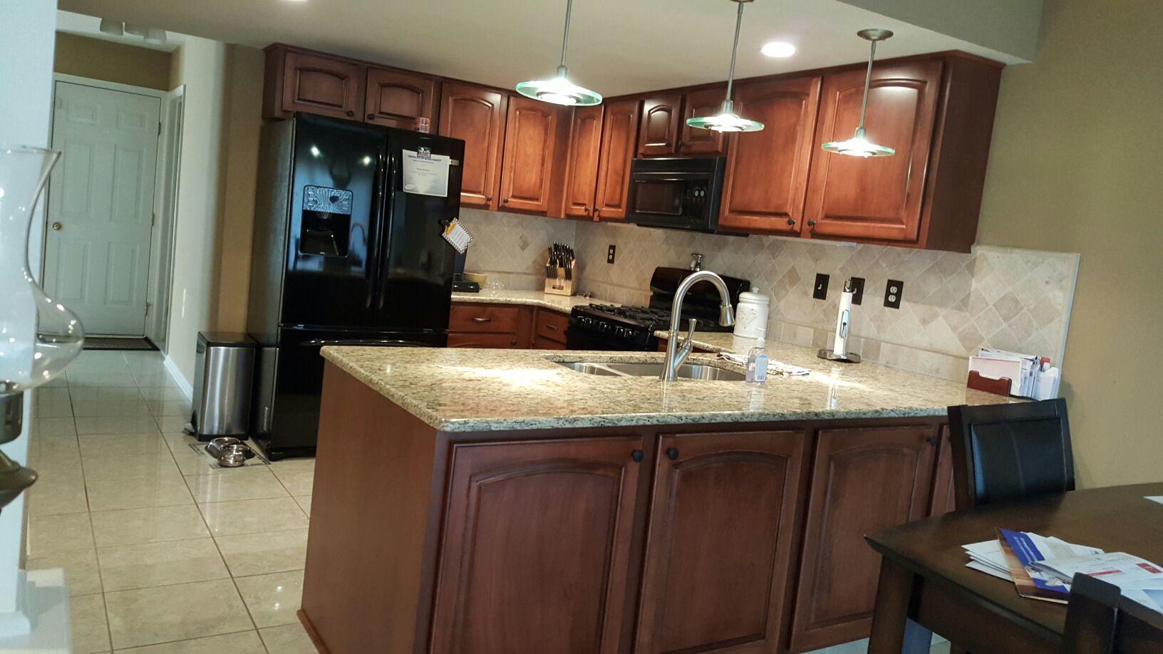 Doylestown Kitchen Cabinet Reface - After Photo