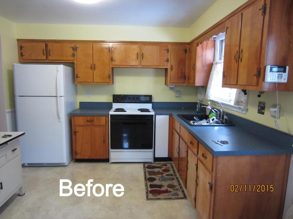 Southampton, PA Cabinet Refacing Project - Before Photo
