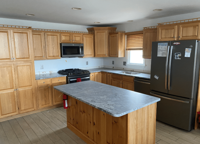 Kitchen Cabinet Refacing - Before Photo