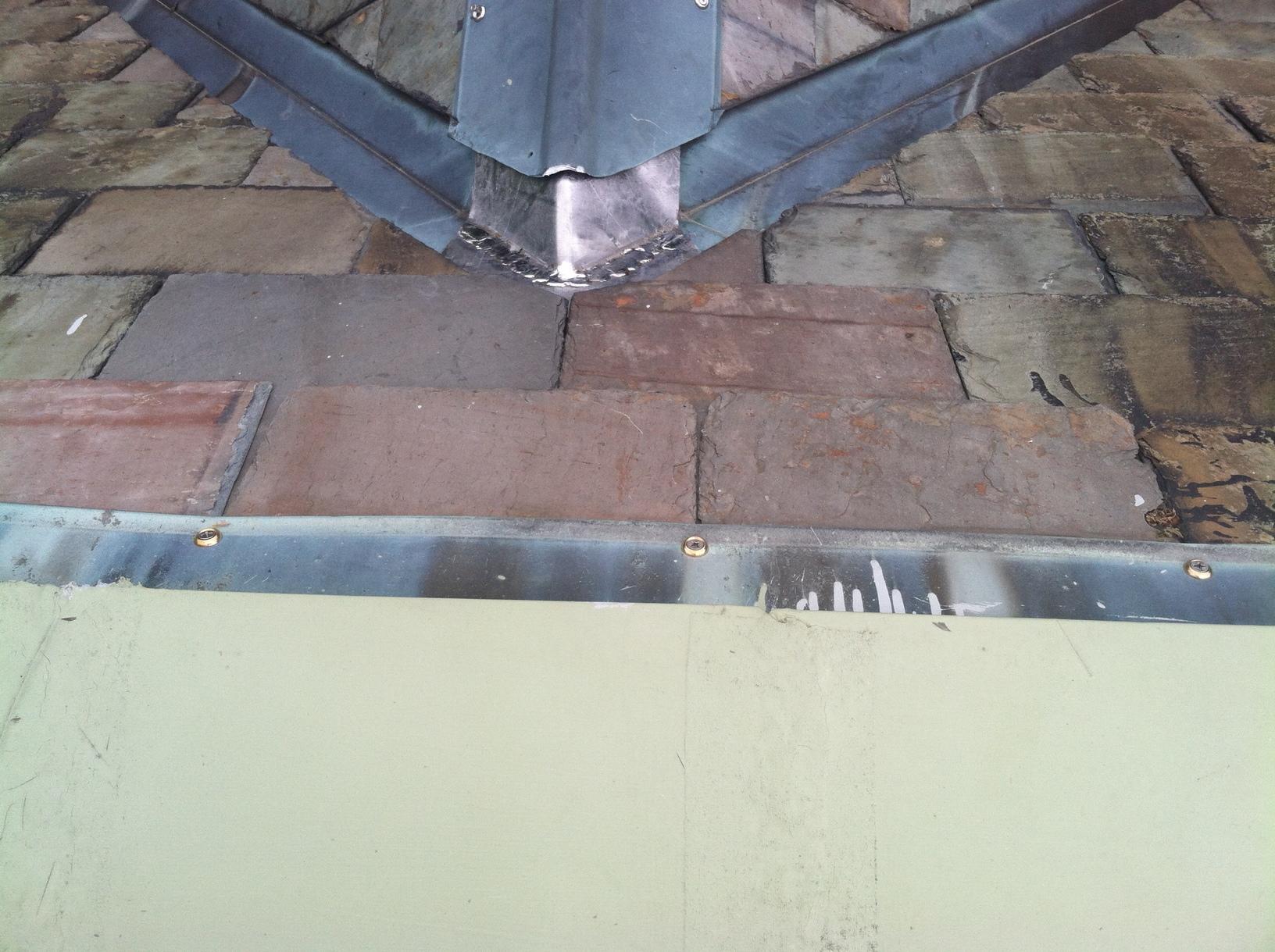 Slate Roof Leak Repair in Needham, MA - After Photo