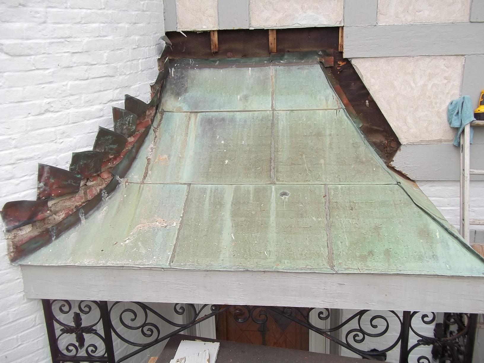 Custom Copper Craftsmanship in Wellesley, MA - Before Photo