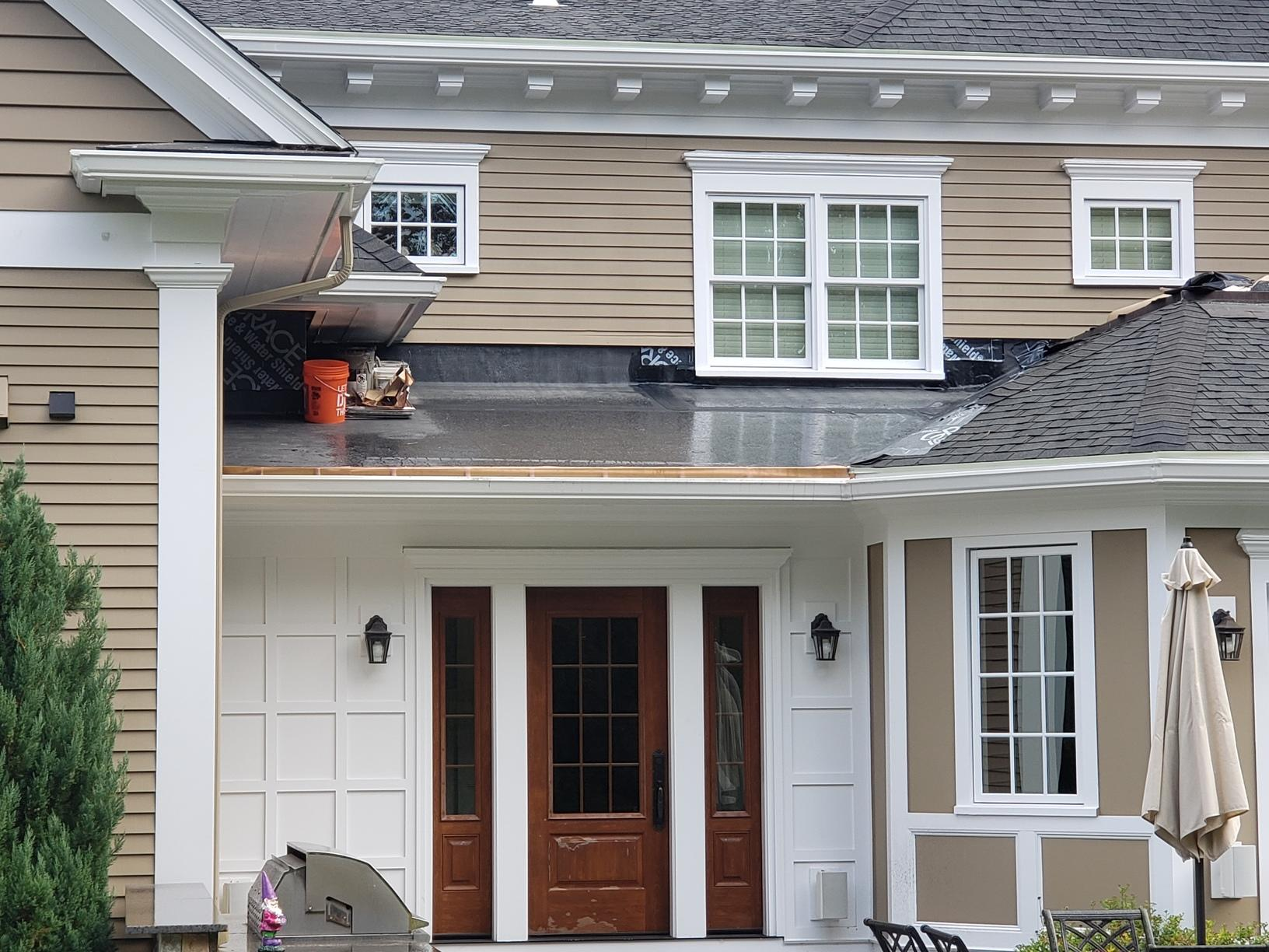Copper Panel Installation in Westwood, MA - Before Photo