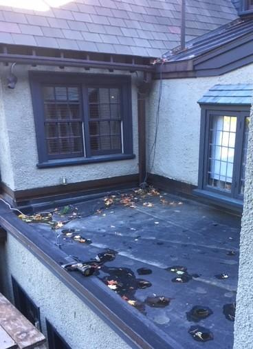 Copper Tile Roof in Belmont, MA - Before Photo