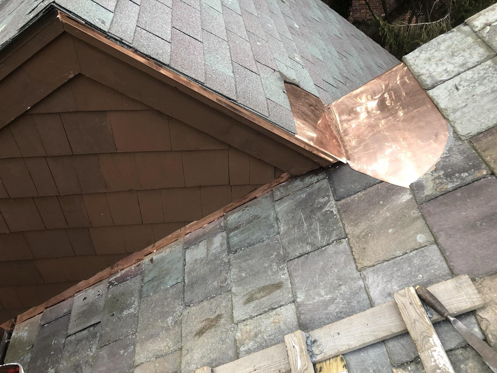 Copper Wash and Step Flashing Installation in Belmont, MA - After Photo