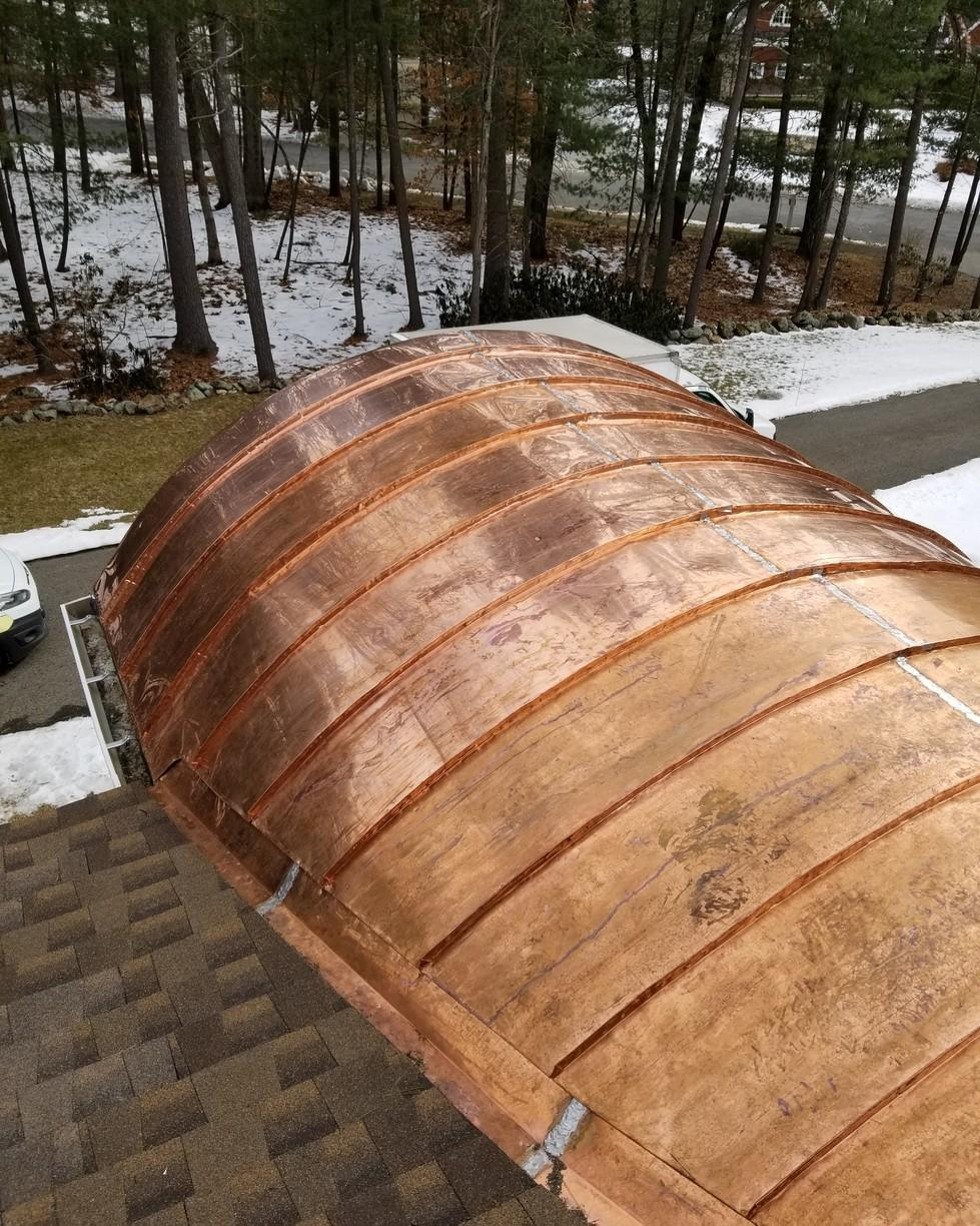 Copper Barrel Roof in Weston, MA - After Photo
