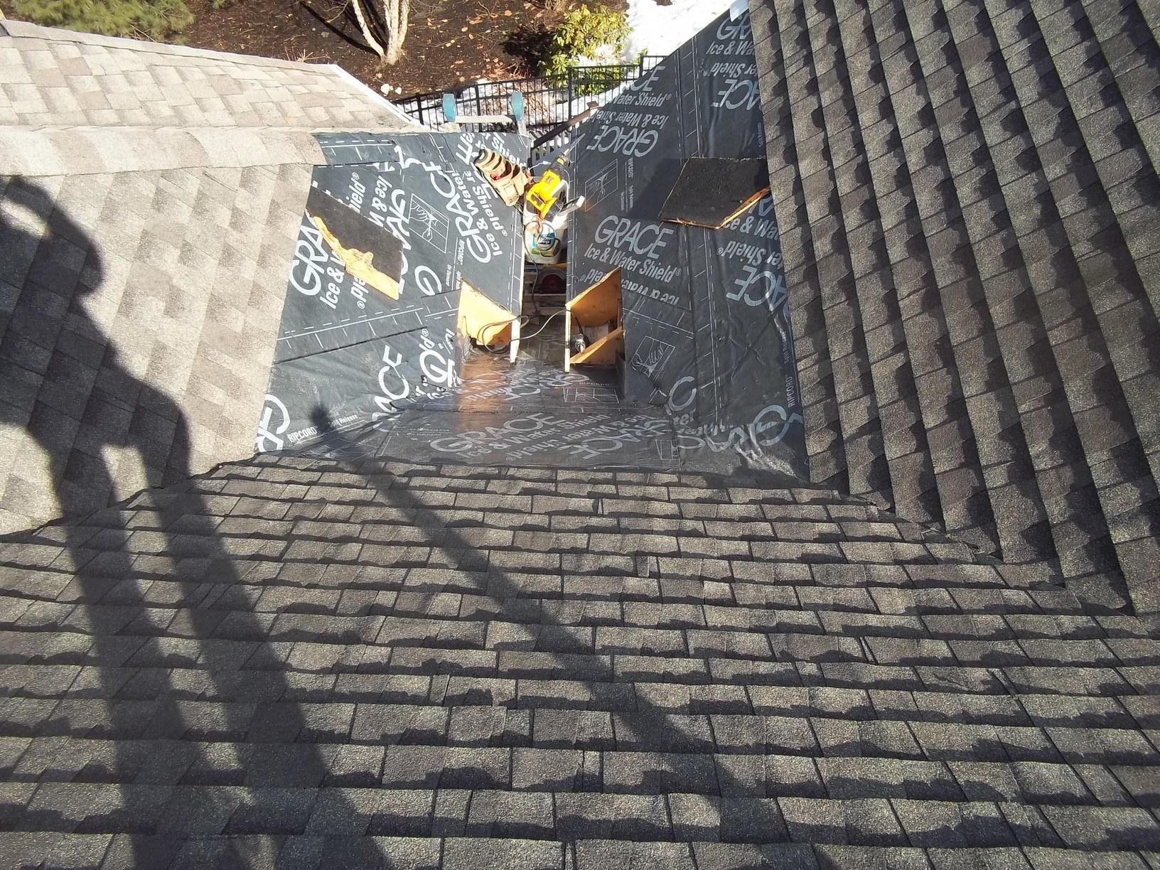 Copper Valley Installation on Shingle Roof in Watertown, MA - Before Photo