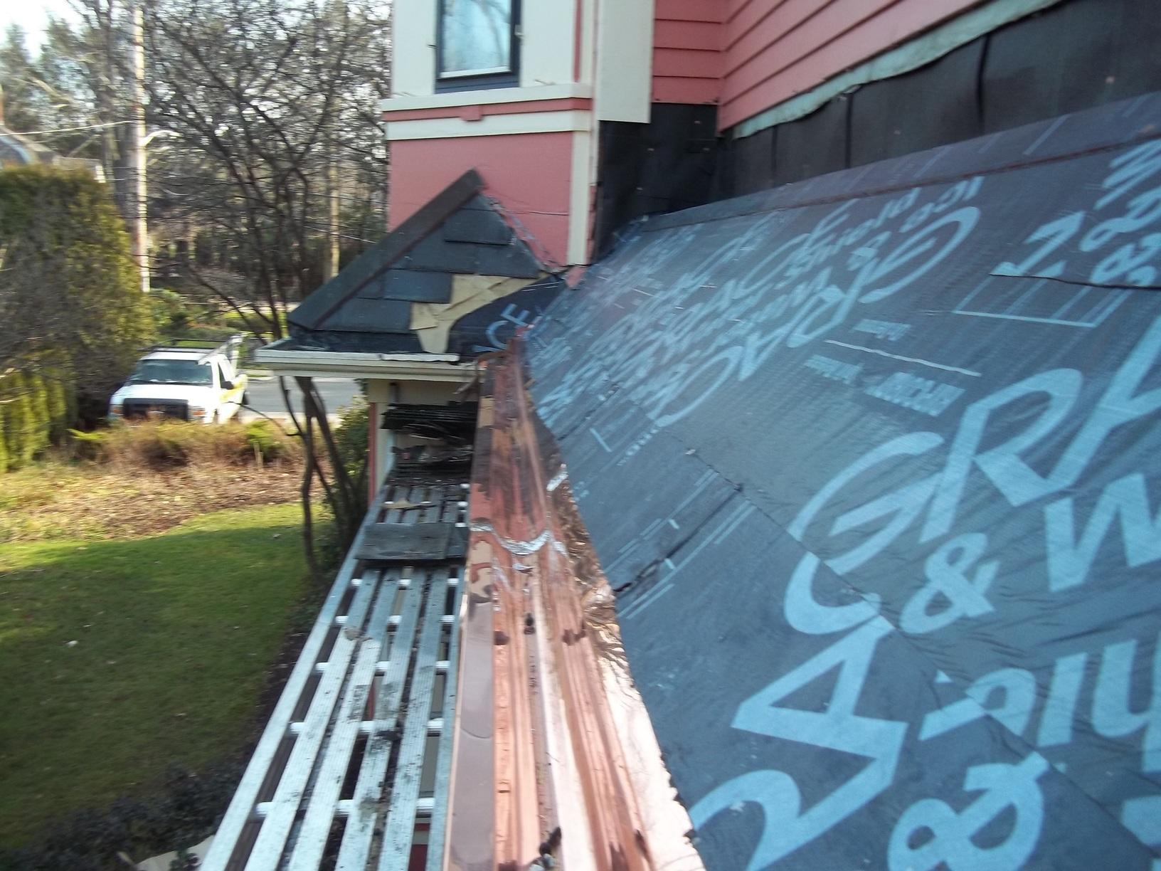 Custom Copper Flashing in Wellesley, MA - Before Photo