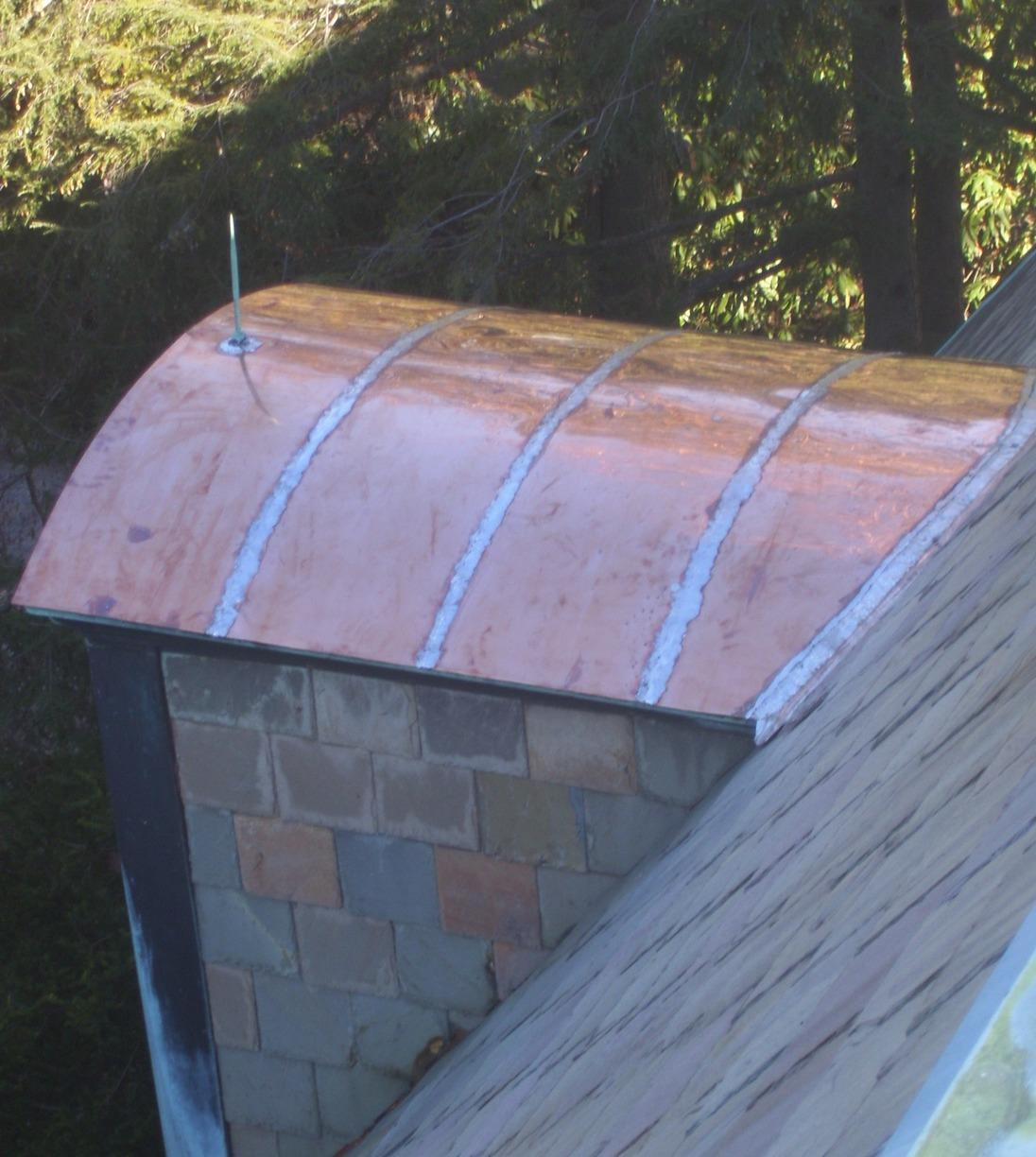Copper Roof Installation in Needham, MA - After Photo
