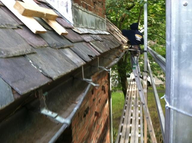 Slate Repair & Copper Gutter Installation in Arlington, MA