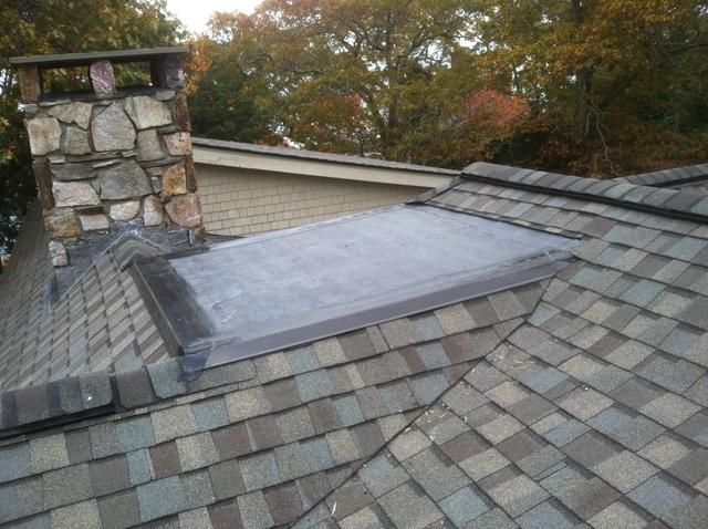 Tying a Rubber Roof Into Shingles in Belmont, MA