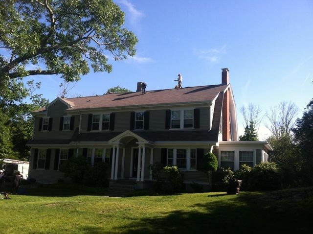 Shingle Roof Replacement in Weston, MA - Before Photo