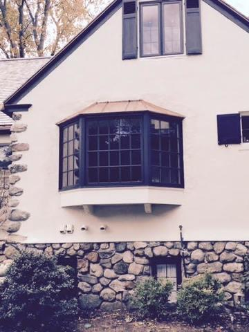 Replacement Bay Window with Copper in Winchester, MA