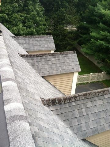 Ridge Shingle Replacement in Westborough, MA - Before Photo