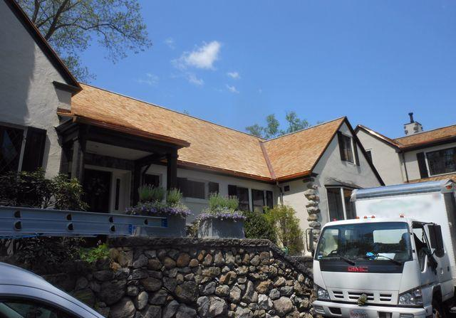 Wood Shingle Roof Installation in Winchester, MA - After Photo