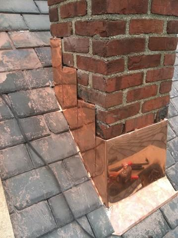 Copper Chimney Flashing in Somerville, MA
