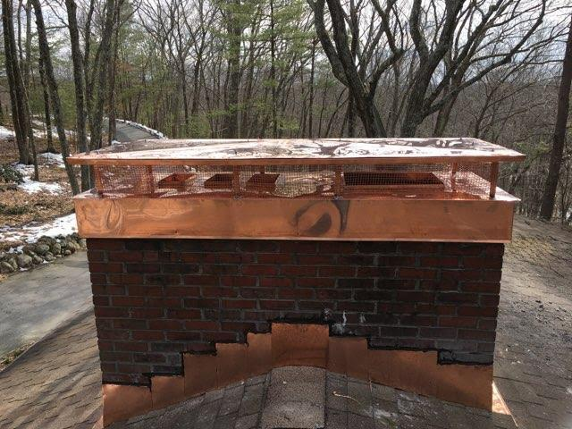 Leaky Chimney Repair in Concord, MA - After Photo