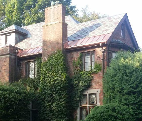 Copper Panels on Slate Roof in Belmont, MA