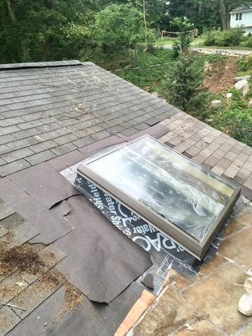 Skylight repair in Chestnut Hill MA - After Photo