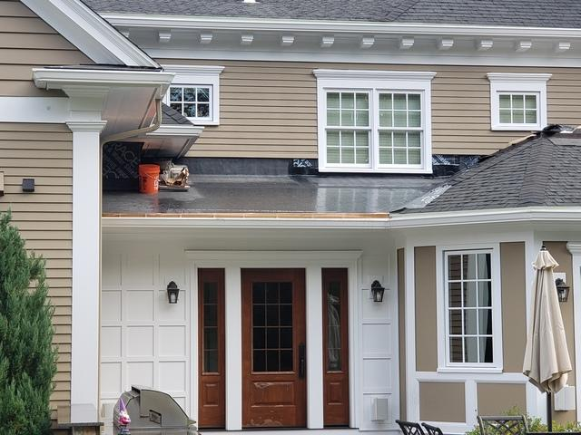 Copper Panel Installation in Westwood, MA