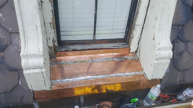 Copper Installation on a Window in Cambridge, MA